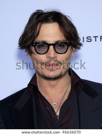 "LOS ANGELES - OCT 13:  Johnny Depp arrives to the ""Rum Diary"" World Premiere  on October 13, 2011 in Los Angeles, CA"