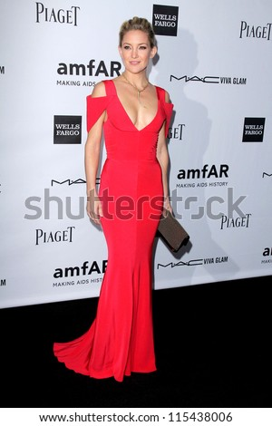 LOS ANGELES - OCT 11:  Kate Hudson arrives at the amfAR Inspiration Gala Los Angeles at Milk Studios on October 11, 2012 in Los Angeles, CA - stock photo