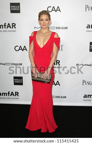 LOS ANGELES - OCT 11: Kate Hudson at amfAR's Inspiration Gala at Milk Studios on October 11, 2012 in Los Angeles, California. - stock photo