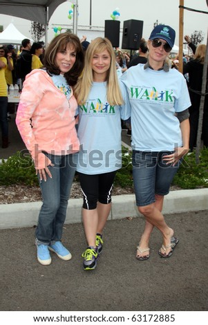 "LOS ANGELES - OCT 16:  Kate Linder, Marcy Rylan, Eileen Davidson at the Habitat for Humanity  ""American Dream Walk""  at Pacoima Plaza on October 16, 2010 in Pacoima, CA - stock photo"