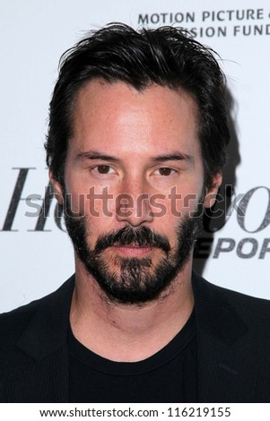 "LOS ANGELES - OCT 20:  Keanu Reeves arrives at  the ""Reel Stories, Real Lives"" Event at Milk Studios on October 20, 2012 in Los Angeles, CA"