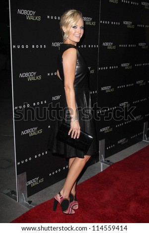 """LOS ANGELES - OCT 2:  Malin Akerman arrives at the """"Nobody Walks"""" - Los Angeles Premiere at ArcLight Hollywood on October 2, 2012 in Los Angeles, CA"""