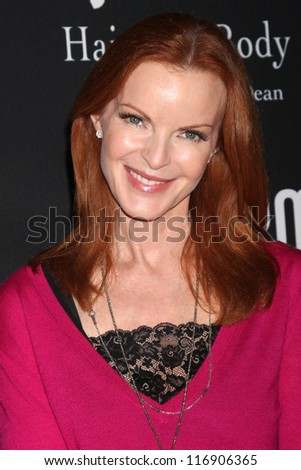 "LOS ANGELES - OCT 26:  Marcia Cross arrives at ""The Pink Party '12"" at Hanger 8 on October 26, 2012 in Santa Monica, CA"