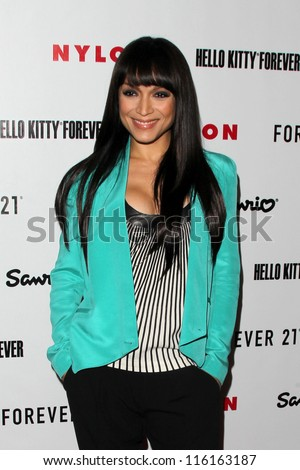LOS ANGELES OCT 15 Mayte Garcia arrives at Nylon's October IT Issue party at London West Hollywood on October 15 2012 in Los Angeles CA