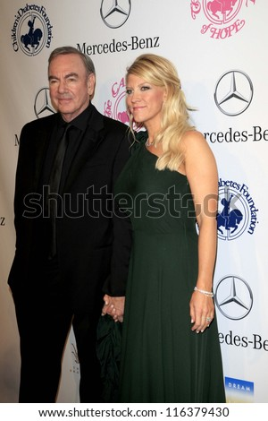 LOS ANGELES - OCT 20:  Neil Diamond arrives at  the 26th Carousel Of Hope Ball at Beverly Hilton Hotel on October 20, 2012 in Beverly Hills, CA
