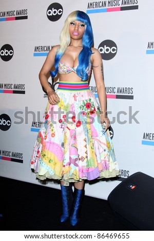 LOS ANGELES - OCT 11:  Nicki Minaj arriving at the 2011 American Music Awards Nominations Press Conference  at the JW Marriott Los Angeles at L.A. LIVE on October 11, 2011 in Los Angeles, CA