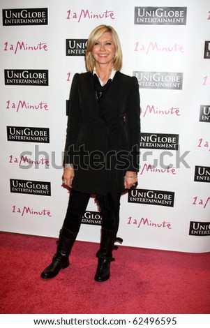 "LOS ANGELES - OCT 6:  Olivia Newton-John arrives at the ""1 a Minute"" Live Event at Woodbury University on October 6, 2010 in Burbank, CA"