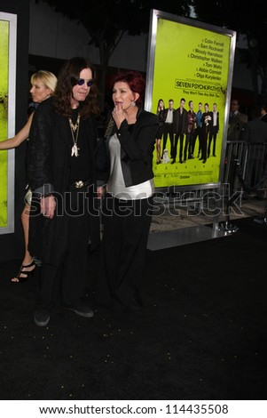"""LOS ANGELES - OCT 30:  Ozzy Osbourne, Sharon Osbourne  at the """"Seven Psychopaths"""" Premiere at Bruin Theater on October 30, 2012 in Westwood, CA - stock photo"""