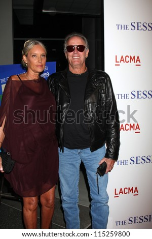 """LOS ANGELES - OCT 10:  Parky Fonda, Peter Fonda arrives at the """"The Sessions"""" Los Angeles Premiere at Bing Theater at Los Angeles Museum of Art on October 10, 2012 in Los Angeles, CA"""
