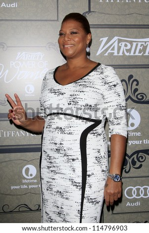LOS ANGELES - OCT 5:  Queen Latifah arrives at the Variety's 4th Annual Power Of Women Event at Beverly Wilshire Hotel on October 5, 2012 in Beverly Hills, CA
