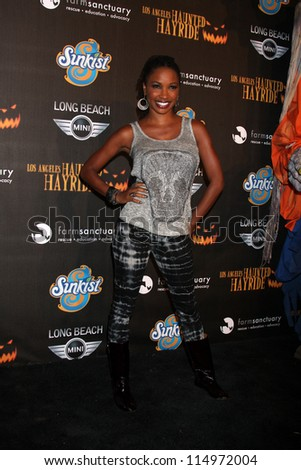 LOS ANGELES - OCT 7:  Shanola Hampton arrives at the 4th Annual Los Angeles Haunted Hayride VIP Premiere Night at Griffith Park on October 7, 2012 in Los Angeles, CA