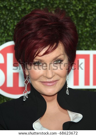 LOS ANGELES - OCT 11:  Sharon Osbourne arrives to the Summer Press Tour 2010-CBS CW Showtime on October 11, 2010 in Beverly Hills, CA - stock photo