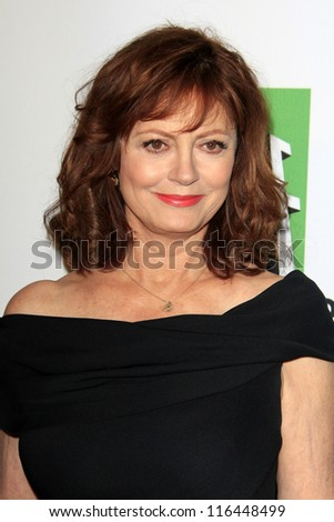 LOS ANGELES - OCT 22:  Susan Sarandon arrives at  the 2012 Hollywood Film Festival Gala at Beverly Hilton Hotel on October 22, 2012 in Beverly Hills, CA - stock photo