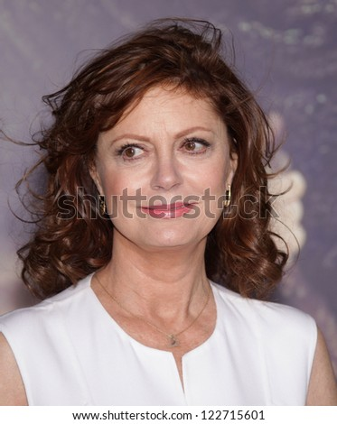 """LOS ANGELES - OCT 24:  Susan Sarandon arriving to """"Cloud Atlas"""" Los Angeles Premiere  on October 24, 2012 in Hollywood, CA - stock photo"""