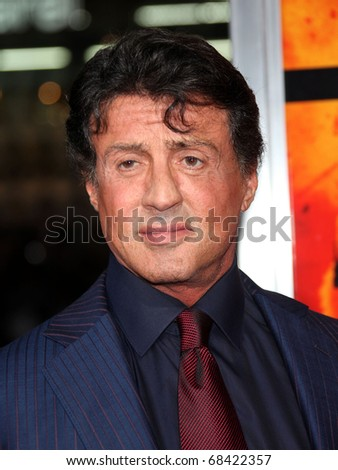"LOS ANGELES - OCT 11: Sylvester Stallone arrives to the ""RED"" Los Angeles Screening at Mann Chinese Theatre on October 11, 2010 in Hollywood, CA"