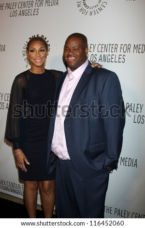 LOS ANGELES - OCT 22:  Tamar Braxton and husband arrives at  the Paley Center for Media Annual Los Angeles Benefit at The Lot on October 22, 2012 in Los Angeles, CA
