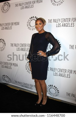 LOS ANGELES - OCT 22:  Tamar Braxton arrives at  the Paley Center for Media Annual Los Angeles Benefit at The Lot on October 22, 2012 in Los Angeles, CA - stock photo