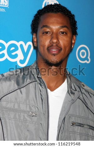 LOS ANGELES - OCT 20:  Wesley Jonathan arrives at  the Qubeeys Chris Brown Channel Launch Event at Private Residence on October 20, 2012 in Beverly Hills, CA