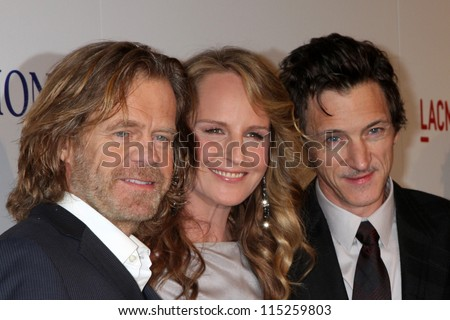 """LOS ANGELES - OCT 10:  William H. Macy, Helen Hunt, John Hawkes arrives at the """"The Sessions"""" Los Angeles Premiere at Bing Theater at Los Angeles Museum of Art on October 10, 2012 in Los Angeles, CA - stock photo"""