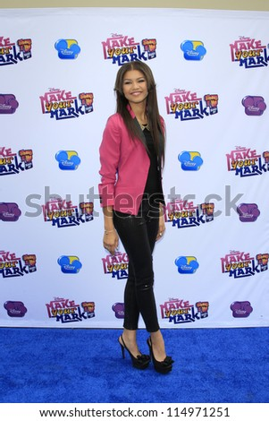 "LOS ANGELES - OCT 6:  Zendaya Coleman arrives at the  ""Make Your Mark: Shake It Up Dance Off 2012"" at LA Center Studios on October 6, 2012 in Los Angeles, CA"