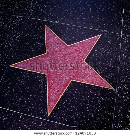 LOS ANGELES - OCTOBER 16: A blank star in Hollywood Walk of Fame on October 16, 2011 in Los Angeles, CA. There are more than 2,400 five-pointed stars which attract about 10 million visitors annually - stock photo