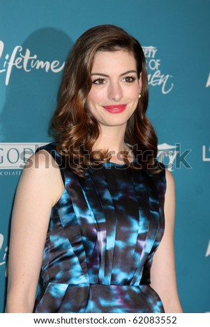 LOS ANGELES - SEP 30:  Anne Hathaway arrives at  Variety's 2nd Annual Power of Women Luncheon at Beverly Hills Hotel on September 30, 2010 in Beverly Hills, CA - stock photo