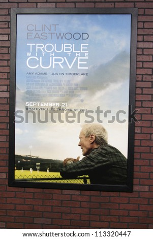 LOS ANGELES - SEP 19: Atmosphere, poster at the Premiere of 'Trouble With The Curve' on September 19, 2012 in Los Angeles, California