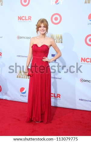 LOS ANGELES - SEP 16:  Bella Thorne arrives at the 2012 ALMA Awards at Pasadena Civic Auditorium on September 16, 2012 in Pasadena, CA
