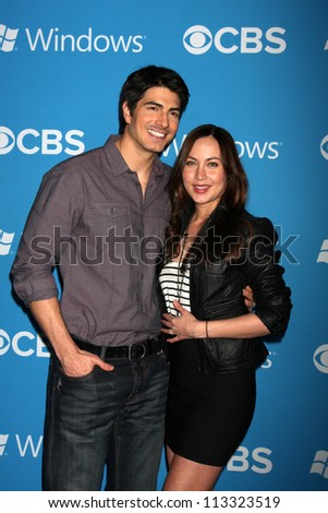 LOS ANGELES - SEP 15:  Brandon Routh, Courtney Ford arrives at the CBS 2012 Fall Premiere Party  at Greystone Manor on September 15, 2012 in Los Angeles, CA