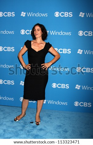 LOS ANGELES - SEP 15:  Carrie-Anne Moss arrives at the CBS 2012 Fall Premiere Party at Greystone Manor on September 15, 2012 in Los Angeles, CA