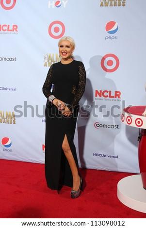 LOS ANGELES - SEP 16:  Christina Aguilera arrives at the 2012 ALMA Awards at Pasadena Civic Auditorium on September 16, 2012 in Pasadena, CA