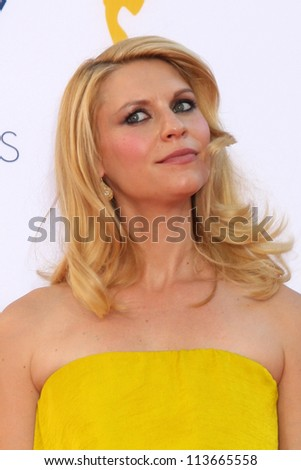 LOS ANGELES - SEP 23:  Claire Danes arrives at the 2012 Emmy Awards at Nokia Theater on September 23, 2012 in Los Angeles, CA