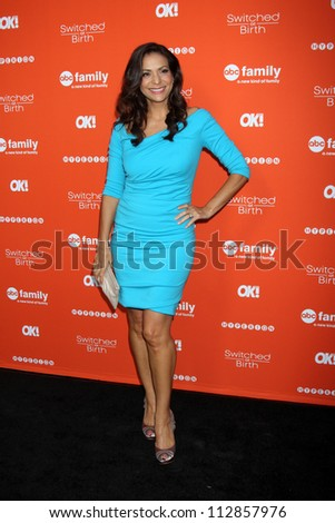"""LOS ANGELES - SEP 13:  Constance Marie arrives at the """"""""Switche d at Birth"""" Fall Premiere & Book Launch Party at The Redbury Hotel on September 13, 2012 in Los Angeles, CA - stock photo"""