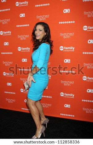 "LOS ANGELES - SEP 13:  Constance Marie arrives at the """"Switched at Birth"" Fall Premiere & Book Launch Party at The Redbury Hotel on September 13, 2012 in Los Angeles, CA - stock photo"
