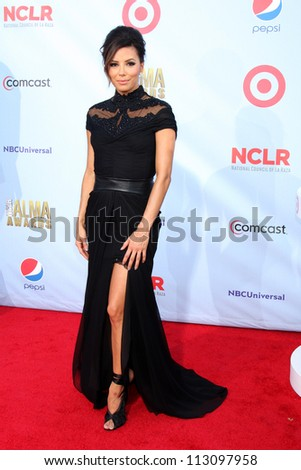 LOS ANGELES - SEP 16:  Eva Longoria arrives at the 2012 ALMA Awards at Pasadena Civic Auditorium on September 16, 2012 in Pasadena, CA