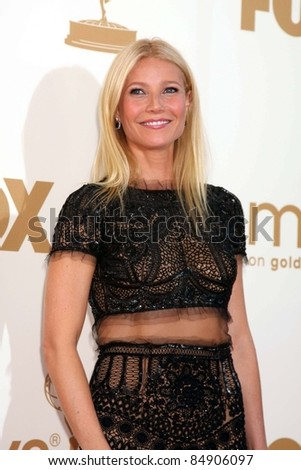 LOS ANGELES - SEP 18:  Gwyneth Paltrow arriving at the 63rd Primetime Emmy Awards at Nokia Theater on September 18, 2011 in Los Angeles, CA