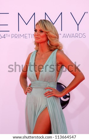 LOS ANGELES - SEP 23:  Heidi Klum arrives at the 2012 Emmy Awards at Nokia Theater on September 23, 2012 in Los Angeles, CA
