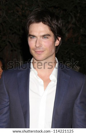 LOS ANGELES - SEP 29:  Ian Somerhalder arrives at the 2012 Environmental Media Awards at Warner Brothers Studio on September 29, 2012 in Burbank, CA