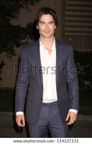 LOS ANGELES - SEP 29:  Ian Somerhalder arrives at the 2012 Environmental Media Awards at Warner Brothers Studio on September 29, 2012 in Burbank, CA - stock photo