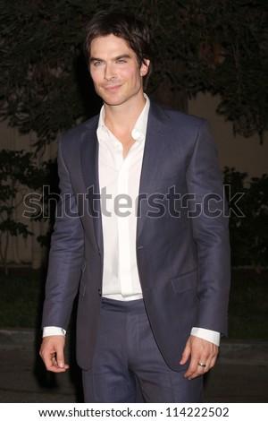 LOS ANGELES - SEP 29:  Ian Somerhalder arrives at the 2012 Environmental Media Awards at Warner Brothers Studio on September 29, 2012 in Burbank, CA