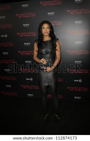 LOS ANGELES - SEP 12: Kali Hawk  at the LA premiere of 'Resident Evil: Retribution' at Regal Cinemas L.A. Live on September 12, 2012 in Los Angeles, California
