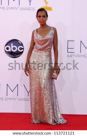 LOS ANGELES - SEP 23:  Kerry Washington arrives at the 2012 Emmy Awards at Nokia Theater on September 23, 2012 in Los Angeles, CA