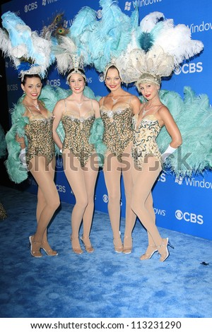 LOS ANGELES - SEP 18: Las Vegas Showgirls at the CBS 2012 Fall Premiere party at Greystone Manor on September 18, 2012 in Los Angeles, California
