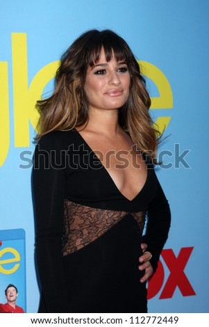 LOS ANGELES - SEP 12:  Lea Michele arrives at the Glee 4th Season Premiere Screening at Paramount Theater on September 12, 2012 in Los Angeles, CA