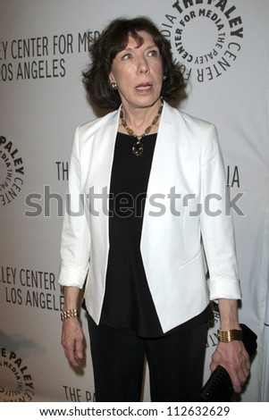 LOS ANGELES - SEP 11:  Lily Tomlin arrives at the ABC Fall TV Preview at Paley Center for Media on September 11, 2012 in Beverly Hills, CA