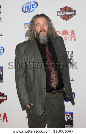 "LOS ANGELES - SEP 8:  Mark Boone arrives at the ""Sons of Anarchy"" Season 5 Premiere Screening at Village Theater on September 8, 2012 in Westwood, CA - stock photo"