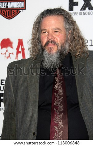 "LOS ANGELES - SEP 8:  Mark Boone arrives at the ""Sons of Anarchy"" Season 5 Premiere Screening at Village Theater on September 8, 2012 in Westwood, CA"