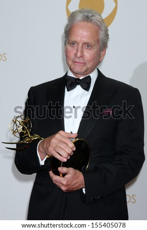 LOS ANGELES - SEP 22:  Michael Douglas at the 65th Emmy Awards - Press Room at Nokia Theater on September 22, 2013 in Los Angeles, CA
