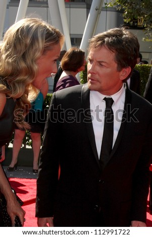 LOS ANGELES - SEP 15:  Michael J Fox arrives at the  Primetime Creative Emmys 2012 at Nokia Theater on September 15, 2012 in Los Angeles, CA