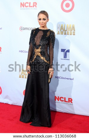 LOS ANGELES - SEP 16:  Nicole Richie arrives at the 2012 ALMA Awards at Pasadena Civic Auditorium on September 16, 2012 in Pasadena, CA
